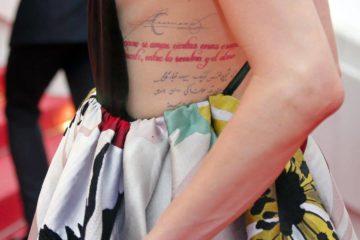 """صور: آمبر هيرد تخطف الأنظار في مهرجان كان الـ 71 بـ""""تاتو"""" فارسي"""