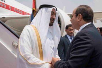 محمد بن زايد يصل القاهرة.. والسيسي في مقدمة مستقبليه