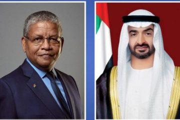 محمد بن زايد يبحث تعزيز العلاقات مع رئيس سيشل